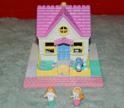 1993 Bluebird Polly Pocket House With 2 Figures