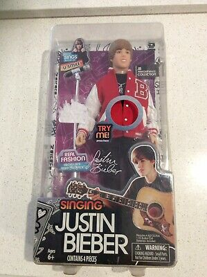 Justin Bieber 2012 Singing Doll 'U Smile' New In Box