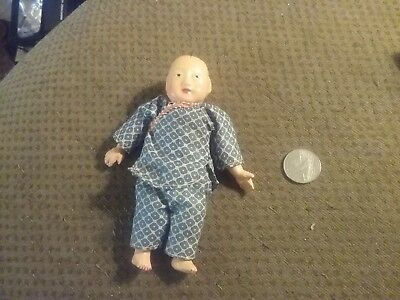 CUTE VINTAGE JAPANESE oriental COMPOSITION DOLL MADE IN HONG KONG