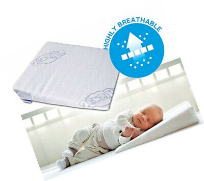 Sensillo Baby Wedge Anti Reflux Colic Pillow Cushion For Pram Crib Cot Bed 37x30