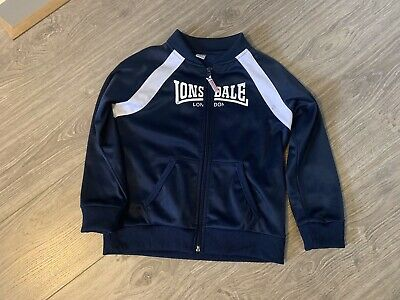 Girls/Boys Retro Tracksuit Top Lonsdale Size 7 Great Condition