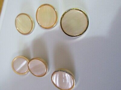 Vintage Shell Buttons 3 Small 3 Large