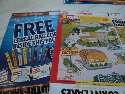 Kelloggs Cereal Boxes Lot Of 10