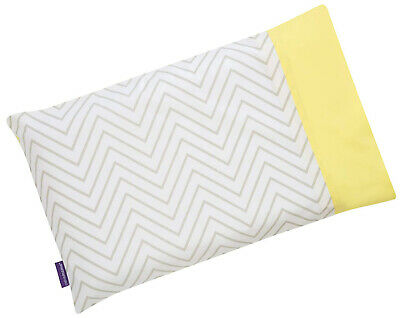 Clevamama Clevafoam Toddler Pillow Case, 100% Cotton - Grey