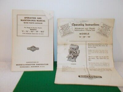 VTG Briggs & Stratton Operating and Maintenance Manual, Operating Instructions