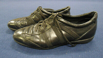 Vintage Hugo Boss black shoes size EUR 43 UK 9 Made in Italy 1990s men's used