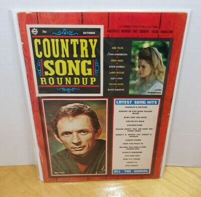 Vintage Oct 1971 Country Song Roundup Mel Tillis Lynn Anderson