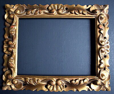 Frame Italian Wood Carved Golden Xx 23 x 18 cm close to 2F Frame Ref C807