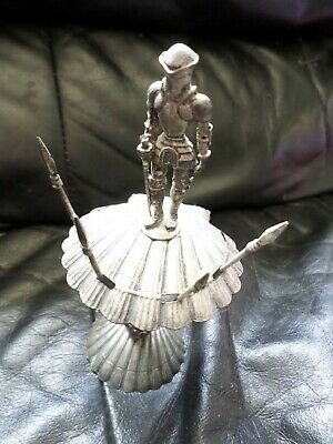 Vintage Metal Medieval Knight In Armour Bar Set - Cocktail Forks Rare Spears