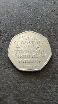 Official UK 2020 Brexit 50p Coin  Release 31st January circulated