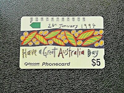 $5 26Th January 1994 Have A Great Australia Day Telecom Phonecard.