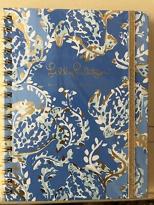 Lilly Pulitzer Medium Planner Agenda 2019/2020 17 MO In Turtley Awesome Blue NEW