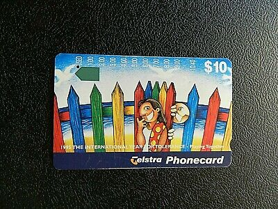 $10 1995 The International Year Of Tolerance -Playing Together Telstra P/Card.