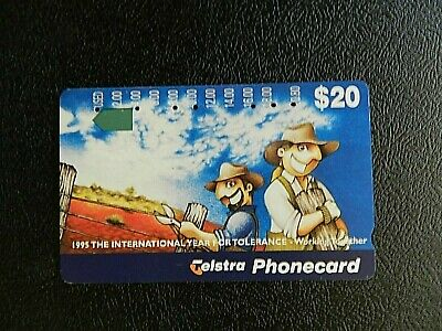 $20 1995 The International Year Of Tolerance -Working Together Telstra P/Card.