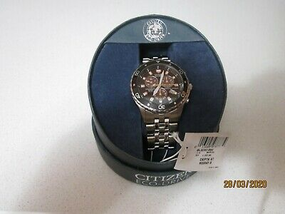 Citizen Eco-Drive Chronograph Men's watch with Stainless Steel band, NWT