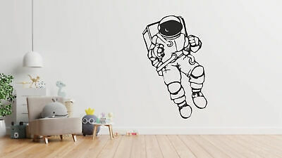Astronaut Sticker Space Kids Decal Bedroom Planets Wall Art Mural