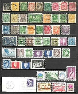 Canada & Newfoundland Small Collection of 86 Diff. Stamps Mostly Used CV $125.00