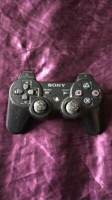 OFFICIAL SONY PLAYSTATION 3 PS3 DUALSHOCK BLACK CONTROLLER GAME PAD Faulty