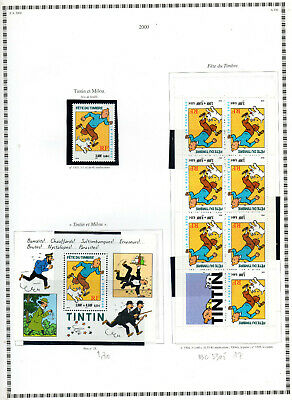 BC 3305+ BLOC N° 28  TINTIN JOUNEE du TIMBRE  NEUF * *  LUXE