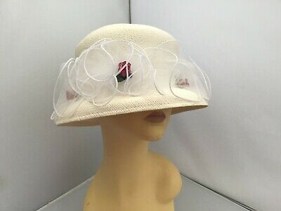 Ladies Ivory Hat Weddings/Races/Occasions By First Avenue Pristine Condition