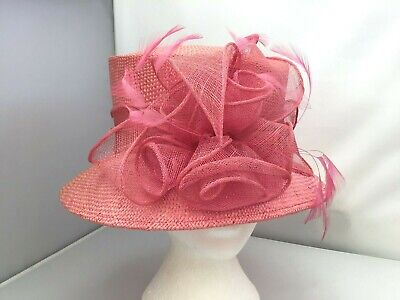 Ladies Pink Hat Weddings/Races/Occasions Pristine Condition Mother Of Bride