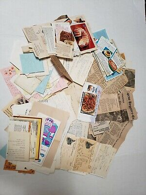 Vintage Recipes Handwritten Clipped Newspaper OLD Typed out & other Newspape
