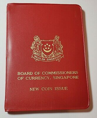 Board Of Commissioners Of Currency Singapore New Coin Issue 1967 Wallet Passport