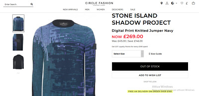 Stone Island Shadow Project Digital Print Knitted Jumper