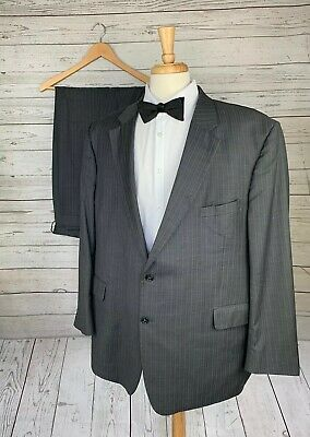 Jos A Bank Gray Pinstripe 2 Btn Suit Wool Mens Size 52R