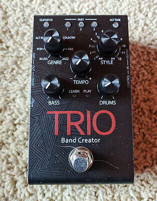 DigiTech TRIO Band Creator Guitar Effects Pedal, 7 Genres, Levels, Amp/Mixer Out