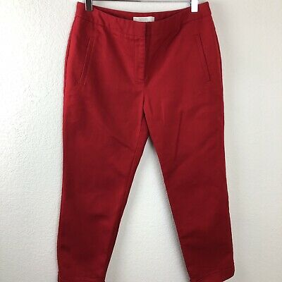 Chicos Womens Dress Pants, Red Chicos Size 0.5