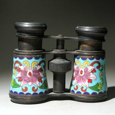 Collectable China Handwork Old Brass Mosaic Cloisonne Interesting Rare Telescope