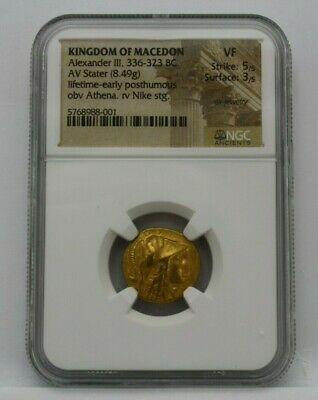 Rare Kingdom Of Macedon Alexander Iii 336-323 Bc Av Stater Gold Coin Ngc Vf