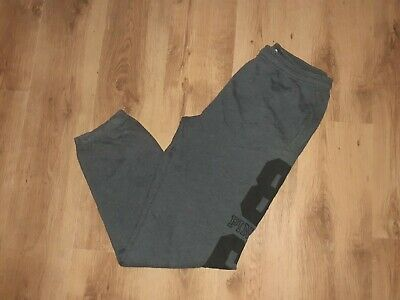 Ladies Girls PINK Grey Cotton Lounge Wear Tracksuit Bottoms - Uk10-12