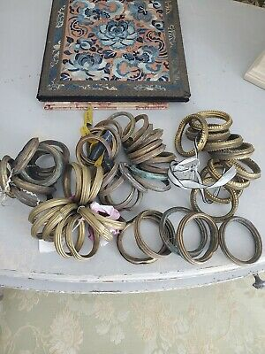 Lot 53 Large Antique French 19th Century Gilded Chateau Curtain Rings - Toleware