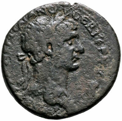 LumisNumis Trajan AE Antioch Wreath SC 27mm Ancient Roman Imperial Bronze Coin