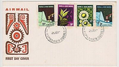 (K226-49) 1967 PNG FDC set of 4stamps Hydra electric scheme(toning) (AX)
