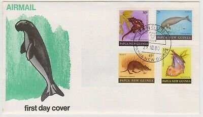 (K226-118) 1980 PNG FDC set of 4stamps Mammals (DR)