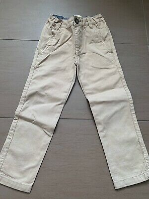 Boys Boden Slim Fit Chino Trousers Beige Age 4 Years