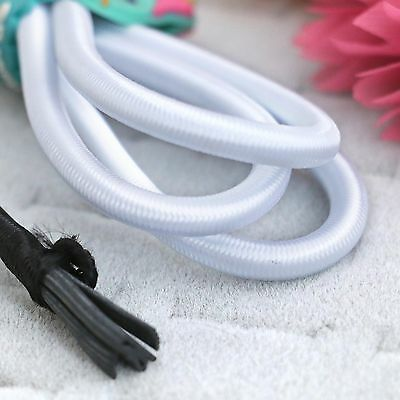 Elastic Cord Round White 55yd x 2 mm great for sewing, crafts & buttonhole loops
