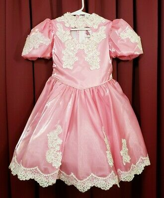 Beautiful Vintage Pink Twirl Pageant Dress by Lida of California Size 6