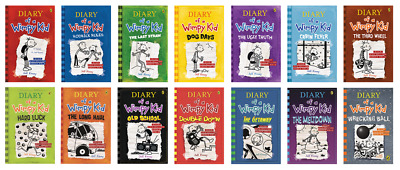 FLASH SALE-🌟Diary Of A Wimpy Kid Collection🌟14 Books Set By Jeff Kinney-$4.95