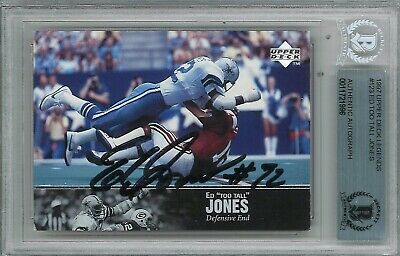 Ed Too Tall Jones Signed 1997 Upper Deck Legends Trading Card BAS 11721996