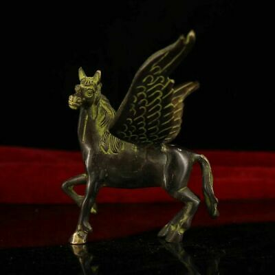 china old hand-made bronze Flying horse collect statue Ad01C