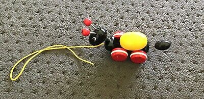Brio - Ant With Rolling Egg - Wooden Pull Along Toy
