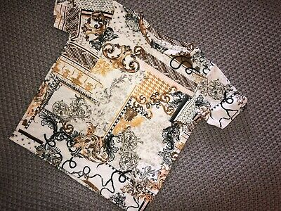 River Island Mini gorgeous Neutral Patterned T-shirt Size 9-12 Months