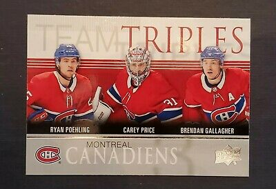 2019-20 UPPER DECK Series 1 MONTREAL CANADIENS Team Triples #TT-5