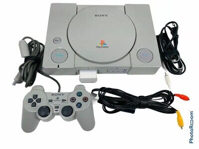 🔥 Sony PlayStation PS1 Gray Console System Controller Bundle SCPH-5501 • Works