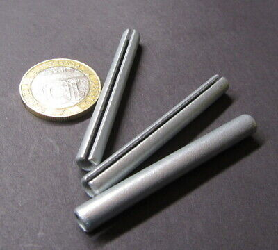 "Zinc Plate Steel Slotted Roll Spring Pin, 7/32"" Dia x 2.00"" Length, 100 pcs"