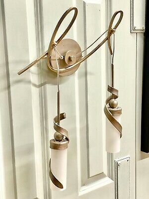 Rare Fine Quality Pair Christopher Wray Hanging Pendant Wall Lights